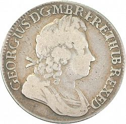 Large Obverse for Shilling 1723 coin