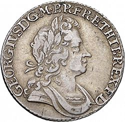 Large Obverse for Shilling 1725 coin
