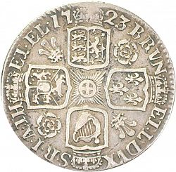 Large Reverse for Shilling 1723 coin
