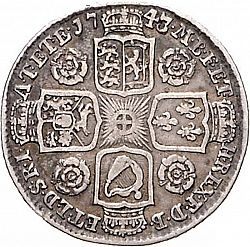 Large Reverse for Shilling 1743 coin