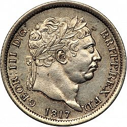 Large Obverse for Shilling 1817 coin