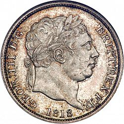 Large Obverse for Shilling 1818 coin