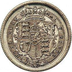 Large Reverse for Shilling 1817 coin
