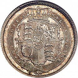 Large Reverse for Shilling 1818 coin