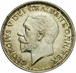 Large Obverse for Shilling 1936 coin