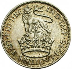 Large Reverse for Shilling 1936 coin