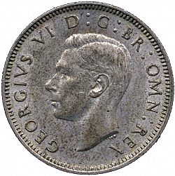 Large Obverse for Shilling 1948 coin