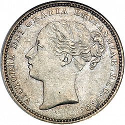 Large Obverse for Shilling 1881 coin