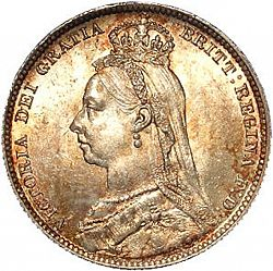 Shilling from 1890 - UNITED KINGDOM 1837-01 - Victoria - The