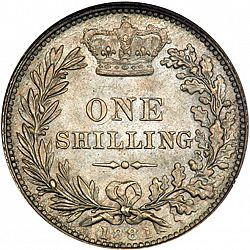 Large Reverse for Shilling 1881 coin