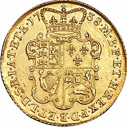 Large Reverse for Two Guineas 1738 coin