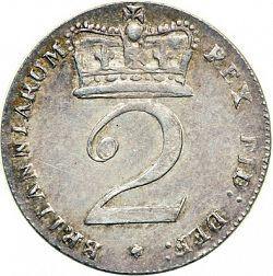 Large Reverse for Twopence 1820 coin