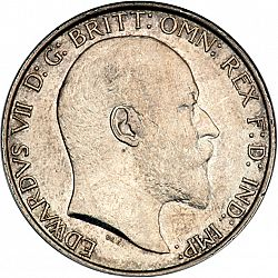 Large Obverse for Florin 1907 coin
