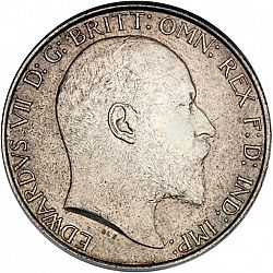 Large Obverse for Florin 1908 coin