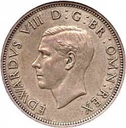 Large Obverse for Florin 1937 coin