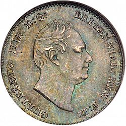 Large Obverse for Threepence 1835 coin
