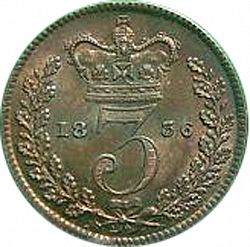 Large Reverse for Threepence 1836 coin