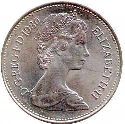 large obverse for 5p 1980 coin