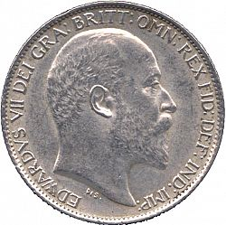 Large Obverse for Sixpence 1902 coin