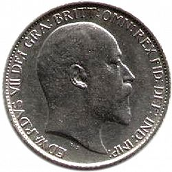 Large Obverse for Sixpence 1903 coin