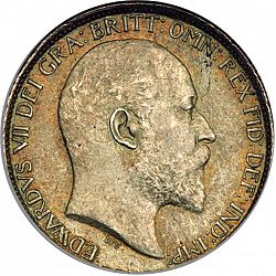 Large Obverse for Sixpence 1908 coin