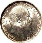 Large Obverse for Sixpence 1910 coin