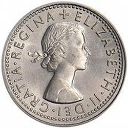 Large Obverse for Sixpence 1967 coin