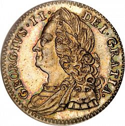 Large Obverse for Sixpence 1746 coin