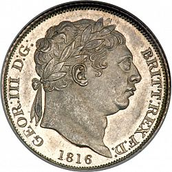 Large Obverse for Sixpence 1816 coin
