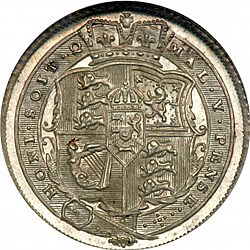 Large Reverse for Sixpence 1816 coin