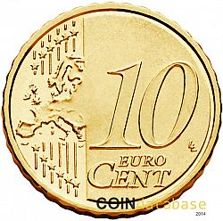 10 cent 2014 Large Reverse coin