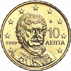 10 cent 2009 Large Obverse coin