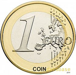 1 Euro 2017 Large Reverse coin