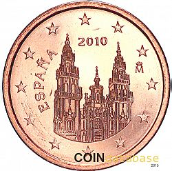 1 cent 2010 Large Obverse coin