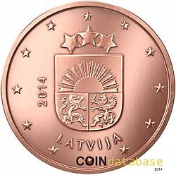 1 cent 2014 Large Obverse coin