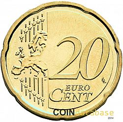 20 cents 2015 Large Reverse coin