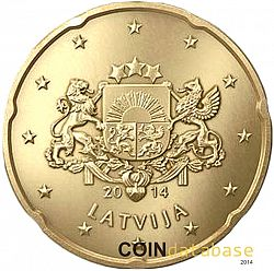 20 cents 2014 Large Obverse coin
