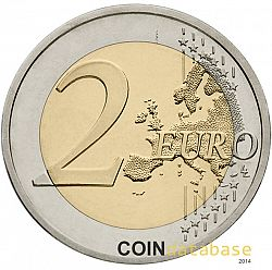 2 Euro 2016 Large Reverse coin