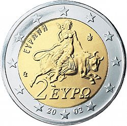 2 Euro 2002 Large Obverse coin