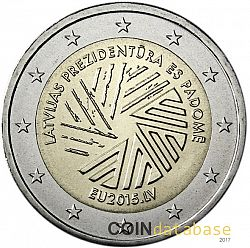 2 Euro 2015 Large Obverse coin