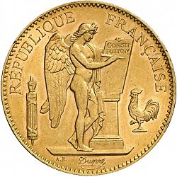 Large Obverse for 100 Francs 1908 coin