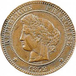 Large Obverse for 10 Centimes 1872 coin