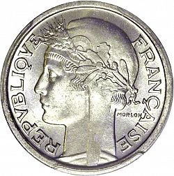 Large Obverse for 1 Franc 1950 coin