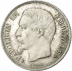 Large Obverse for 1 Franc 1860 coin