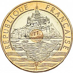 Large Obverse for 20 Francs 1992 coin