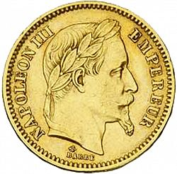 Large Obverse for 20 Francs 1862 coin