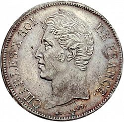 Large Obverse for 5 Francs 1828 coin