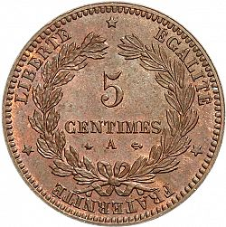 Large Reverse for 5 Centimes 1871 coin