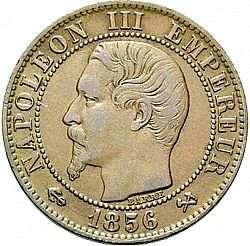 Large Obverse for 5 Centimes 1856 coin