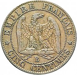 Large Reverse for 5 Centimes 1856 coin